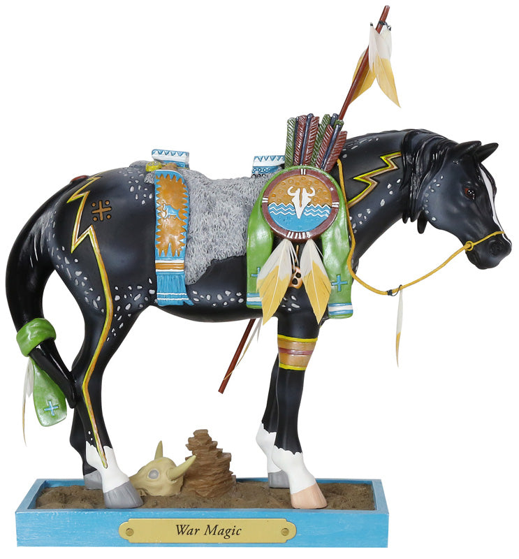 "Enesco Trail of the Painted Ponies Figurine ""War Magic"""