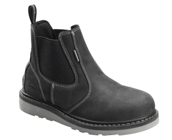 Avenger Men's Wedge Black Soft Toe Work Boot