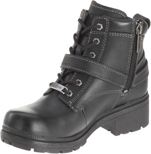 Harley-Davidson Women's Tegan Black Lace-up Boots