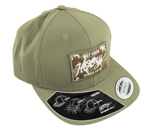 "Hooey Brands ""Rip Cord"" Green Camo Patch Cap"