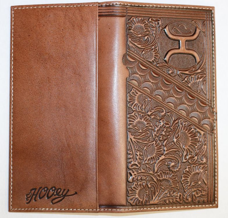 Hooey Brands Scalloped Floral Tooling Rodeo Wallet