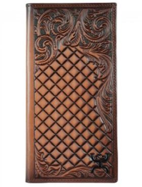 Hooey Brands Signature Rodeo Wallet - Diamond Print Leather