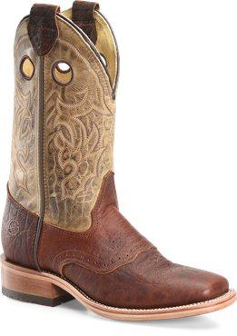 "Double H Men's 12"" Domestic Wide Square Roper"