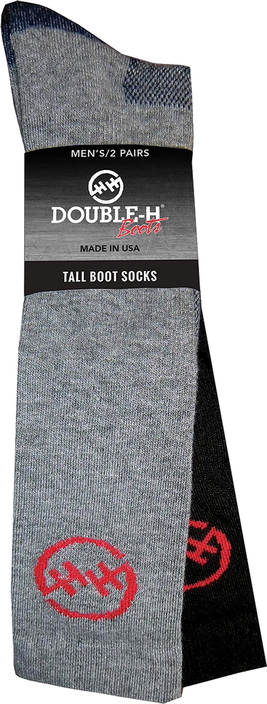 Double H Men's Tall Boot Socks - 2 Pack
