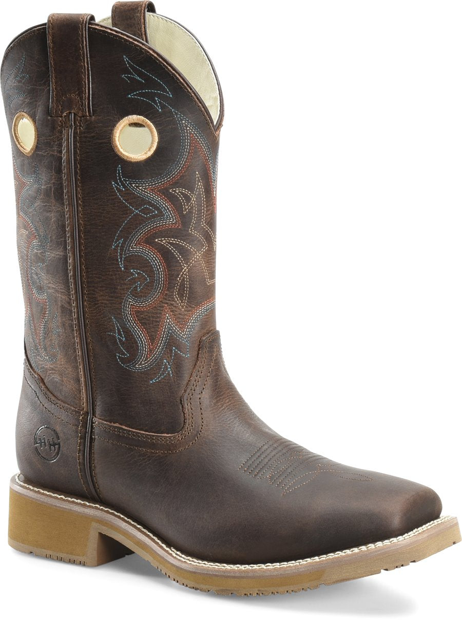 "Double H Men's 12"" Wide Square Toe Roper - Rubert"