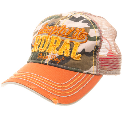 J America Farm Boy/Farm Girl Children's Camo Keeping' it Rural Cap