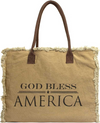 Vintage-Addiction God Bless America Market Tote