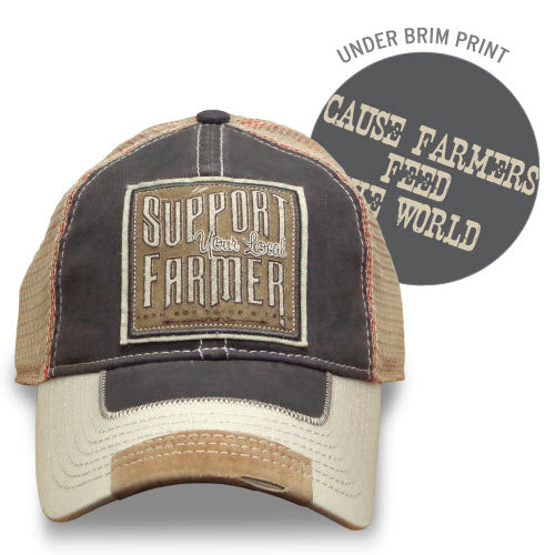 "J America Farm Boy Men's ""Support Your Local Farmer"" Cap"