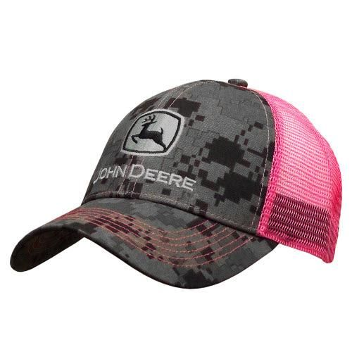 J America Women's Digital Camo John Deere Ball Cap