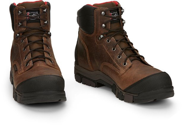"Justin Men's 6"" Lace Up Waterproof Work Boot"