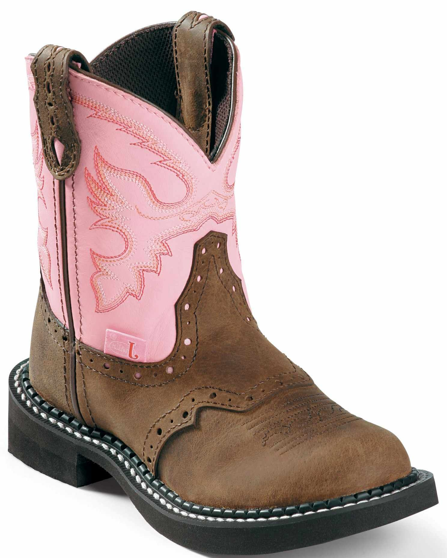 Justin Kids Bay Apache Gypsy Western Boot