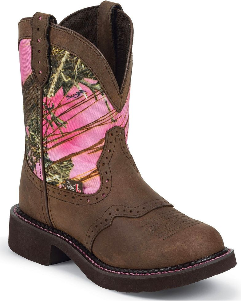 Justin Women's Brown Gypsy with Camo Western Boot