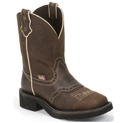 Justin Women Gypsy Mandra Brown Square Toe Western Boot