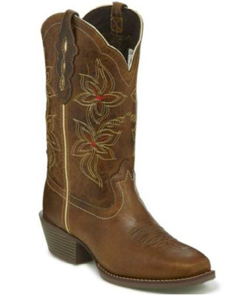 Justin Women's Jungle Tan Square Toe Western Boot