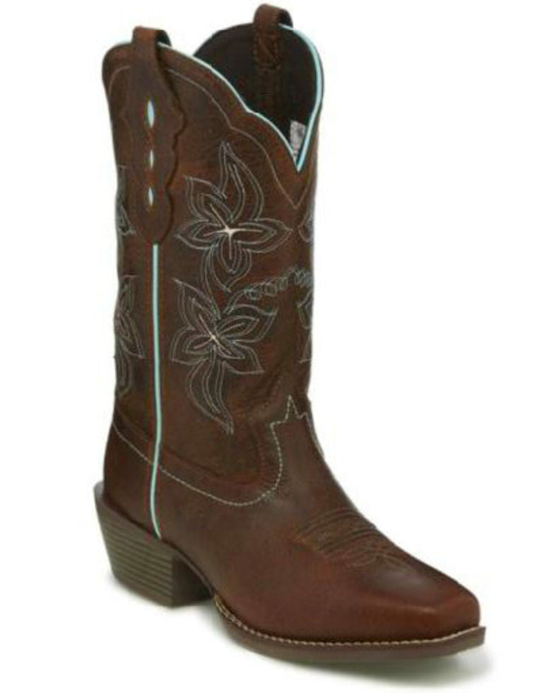 Justin Women's Sun Buffalo Square Toe Western Boot