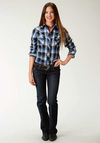 Roper Women's Longsleeve Snap Plaid