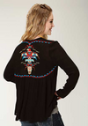 Roper Women's Long Sleeve Embroidered Cardigan
