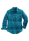 Tin Haul Men's Long Sleeve Blanket Print Western Shirt