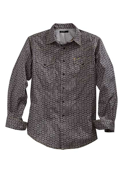 Tin Haul Men's Long Sleeve Geo Print Western Shirt