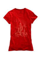 Tin Haul Women's Knit Desert Cactus Print T-Shirt