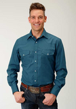 Roper Men's Long Sleeve Solid Shirt