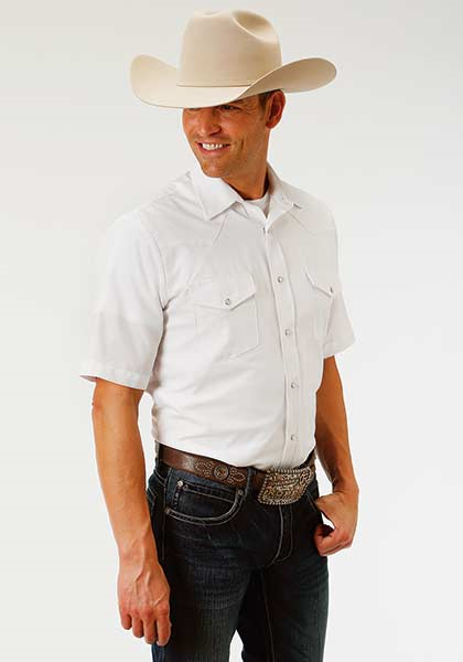 Roper Men's Short Sleeve Tone On Tone Shirt