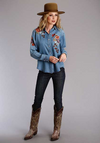 Roper Women's Long Sleeve Embroidery Top