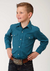 Roper Boy's Long Sleeve Solid Snap Shirt