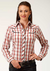 Roper Women's Long Sleeve Plaid Embroidery Top