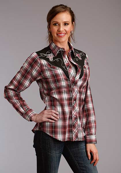 Roper Women's Longsleeve Plaid Snap Fancy Yoke