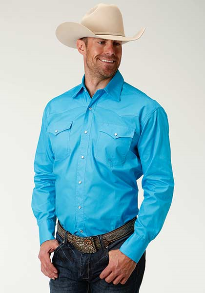 Roper Men's Long Sleeve Solid Western Shirt