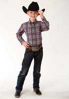 Roper Boy's Long Sleeve Plaid Snap Shirt