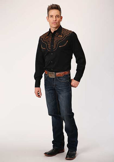 Roper Men's Embroidered Bucking Bronco Western Shirt