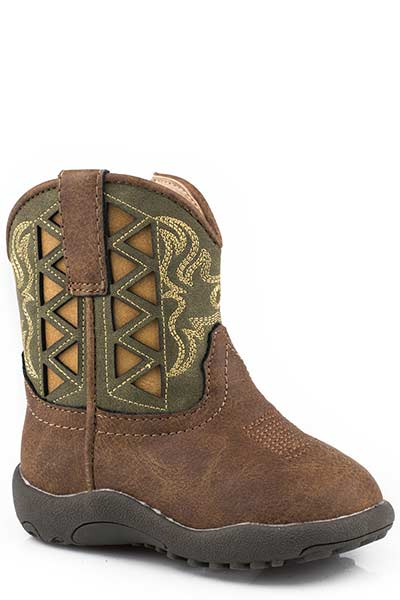 Roper Infant's Cowbabies Grn/Brn Fashion Boot