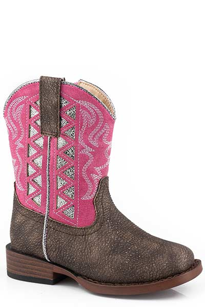 Roper Toddler Pink/Silver Underlay Fashion Boot