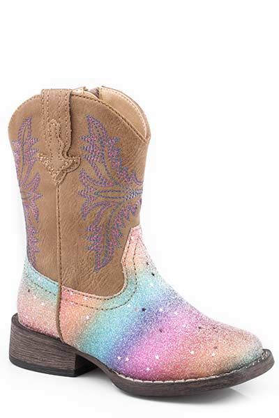 Roper Toddler Rainbow Glitter Fashion Boot