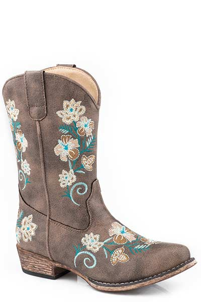 Roper Kid's Floral Embroidery Western Boot