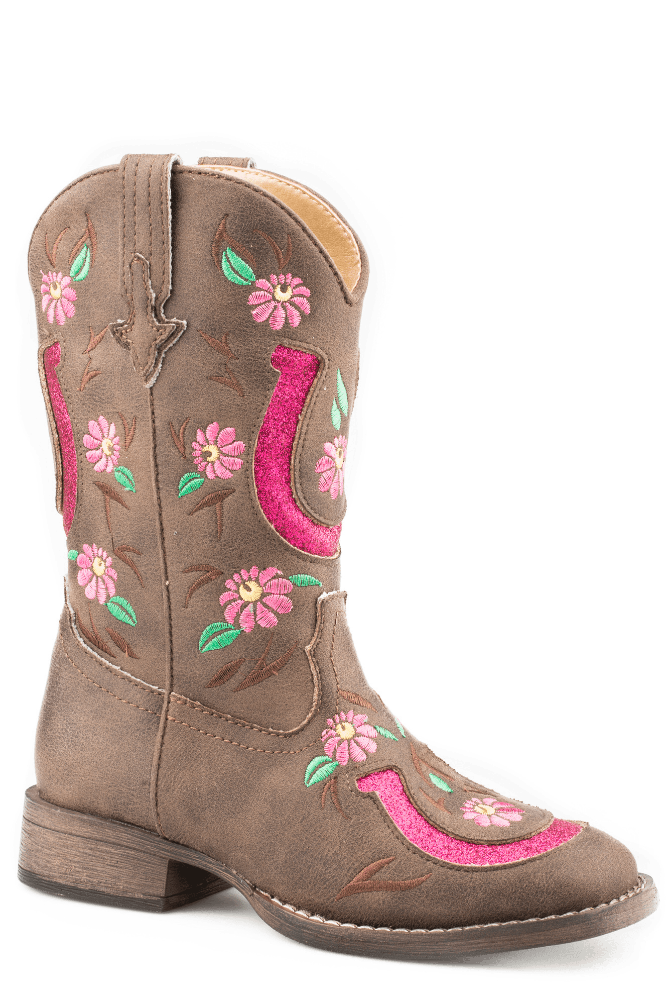 Roper Girls Lucky Horseshoe Western Boot
