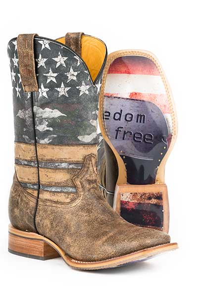 "Tin Haul Men's ""Freedom"" Square Toe Western Boot"
