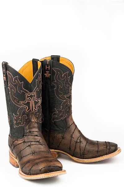 "Tin Haul Men's ""Keep Out"" Square Toe Western Boot"