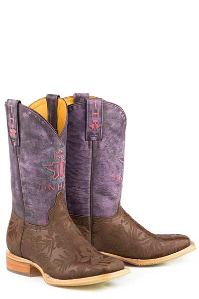 Tin Haul Aloha Floral / Pineapple Sole Western Boot