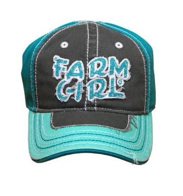 "J America Farm Girl Children's ""Farm Girl"" Mint Girls Cap"