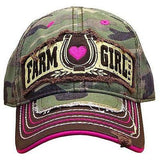"J America Farm Girl Children's ""Farm Girl"" Camo Girls Cap"