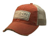 "Vintage Life ""Hold On Let Me Overthink This"" Distressed Trucker Cap"