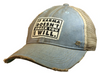 "Vintage Life ""If Karma Doesn't Smack You I Will"" Distressed Trucker Cap"