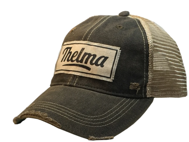 "Vintage Life ""Thelma"" Distressed Trucker Cap"