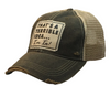 "Vintage Life ""That's a Terrible Idea.........I'm In!"" Distressed Trucker Cap"