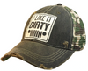 "Vintage Life ""I Like It Dirty"" Distressed Trucker Cap"