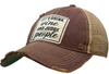 "Vintage Life ""Let's Drink Wine & Judge People"" Distressed Trucker Cap"