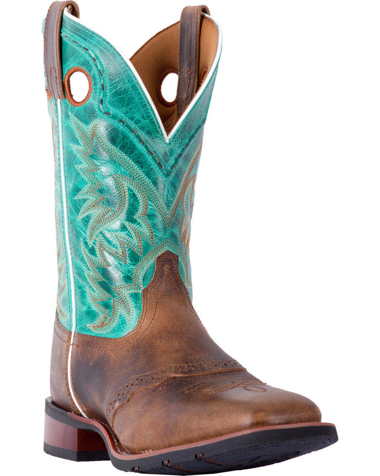 Laredo Men's Ward Tan Turquoise Western Boot
